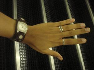 Relógio Fóssil e anéizinhos...